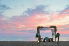 kolacja romantyczne miejsce Zdjęcia Stock