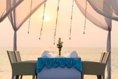 kolacja romantyczne miejsce Fotografia Stock
