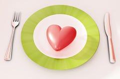 kolacja serce Zdjęcie Stock
