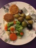 kolacja zdrowy Fotografia Stock