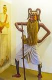 The Kolam Dance. AMBALANGODA, SRI LANKA - DECEMBER 5, 2016: The costume and mask of Anabera Kolama for traditional Kolam Dance, on December 5 in Ambalangoda Stock Image