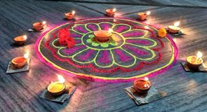 KoLam. Festival art of india specially deepawali Stock Photo