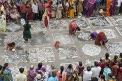 Kolam festival Royalty Free Stock Photos