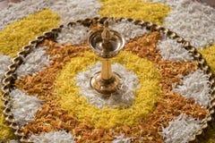 Kolam przy Malayalee ślubem Obrazy Royalty Free