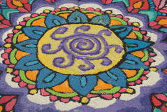 Kolam. A special indian decoration during deepavali festival Stock Images