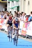kolarstwa dzierzyn K Ko Le Triathlon Zdjęcie Stock