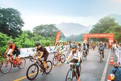 Kolarstwa wydarzenie Asia przy montain w Thailand Fotografia Stock