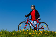 kolarstwo dziewczyna Fotografia Stock