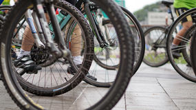Kolarstwo rasa, jechać na rowerze abstrakt Obraz Stock