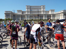 Kolarstwo rywalizacja w Bucharest Obraz Royalty Free