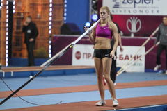Kolasa Agnieszka - Polish pole vaulter Royalty Free Stock Photography