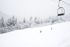 KOLASIN, MONTENEGRO - 1° FEBBRAIO: Pendii dello sci fra Fotografia Stock