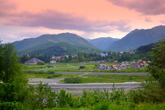 Kolasin town view,Montenegro Stock Photography