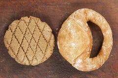 Kolatch et biscuit à l'avoine de seigle image stock