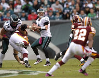 Kolb. Kevin Kolb looks for a receiver in the in Philadelphia Royalty Free Stock Images