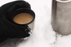kolba śnieg obraz stock
