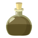Kolba napój miłosny Kreskówki ilustracja alchemik lub magii zlewka napój miłosny Zdjęcia Stock