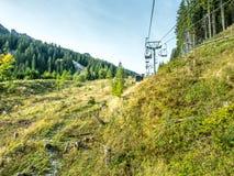 Kolben chair lift in Oberammergau Stock Photography