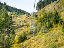Kolben chair lift in Oberammergau Royalty Free Stock Image