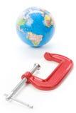 Kolben-Griff und Erde Lizenzfreie Stockfotos