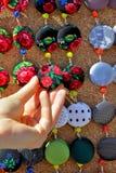 kolczyków ręki s kobieta Obrazy Stock