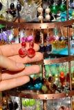 kolczyków rynku kram Fotografia Royalty Free