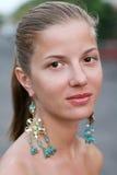 kolczyk kobieta Fotografia Royalty Free