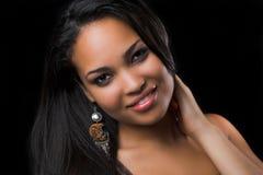 kolczyk portret kobiety fotografia stock