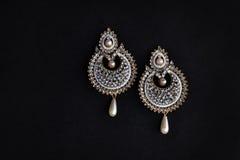 Kolczyka Jewellery sztuczna para Zdjęcia Royalty Free