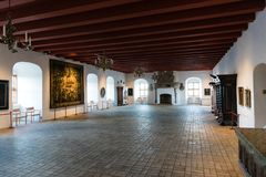 Koldinghus科灵城堡内部在丹麦 免版税图库摄影