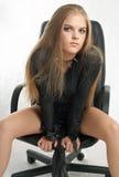 Kolec dziewczyna Zdjęcia Stock