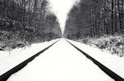 kolei objętych śniegu toru Fotografia Stock