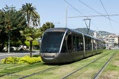 kolei srebra tramwaj Zdjęcie Royalty Free