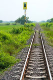 Kolej i sygnał Zdjęcie Stock