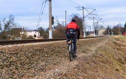 Kolej, linia kolejowa, transport, stacja, ślad, kopiec Obraz Stock