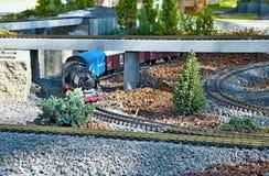 Kolej model przy MiniSlovakia parkiem w Liptovsky Jan obraz stock