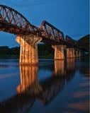Kolej most. Zdjęcie Royalty Free