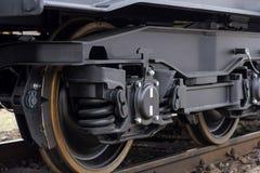 Kolej toczy furgon Frachtowy ładunku pociąg Nowi 6 axled płaski furgon, typ: Sahmmn, Wzorcowy WW 604 A, Transvagon reklama Zdjęcie Stock