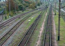 Kolej transport Zdjęcia Stock