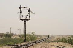 Kolej w afrykanin pustyni Zdjęcia Royalty Free
