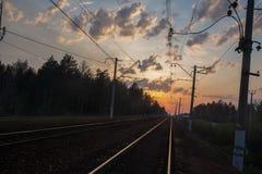 Kolej w Moskwa regionie zdjęcia stock