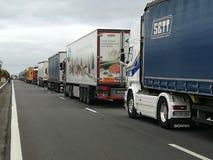 Kolejka ciężarówki fotografia stock