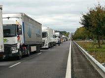 Kolejka ciężarówki obrazy stock