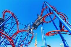 Kolejka górska przy Luna parkiem w Coney Island, NYC Fotografia Royalty Free