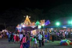 Kolejki górskiej nighttime oświetleniowy świętowanie festval zdjęcie royalty free