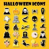 kolejna Halloween ikon dynia coś czarownice Obraz Royalty Free