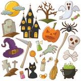 kolejna Halloween ikon dynia coś czarownice Obraz Stock