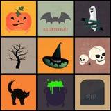 kolejna Halloween ikon dynia coś czarownice Obrazy Royalty Free