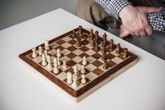Kolejny krok w szachowej grą Zdjęcie Royalty Free