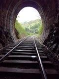 Kolejowa droga przez tunelu Zdjęcie Royalty Free